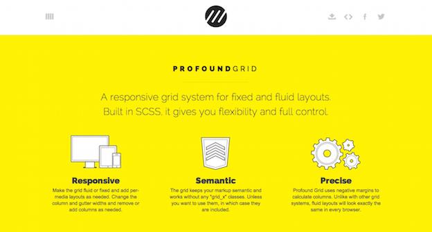 Profound Grid es un ejemplo de un sistema de cruadícula compatible y responsivo