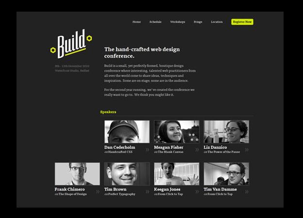 El sitio de conferencia Build pone en uso lo principios de jerarquía
