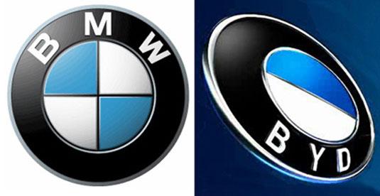 El logo de la la compañía de carros BYD luce algo familiar.