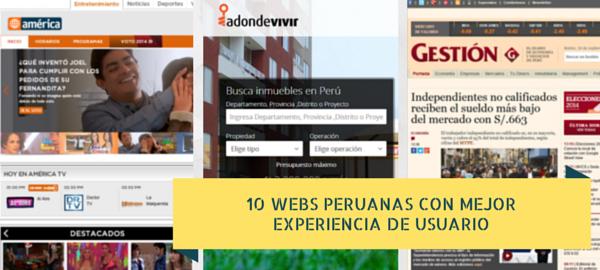 10 webs peruanas con mejor experiencia de usuario