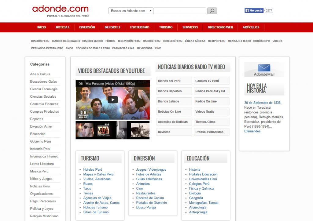 canal web ejemplos