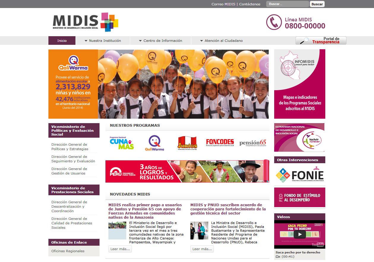 5 p ginas web del estado peruano que necesitan un redise o for Sitio web ministerio del interior