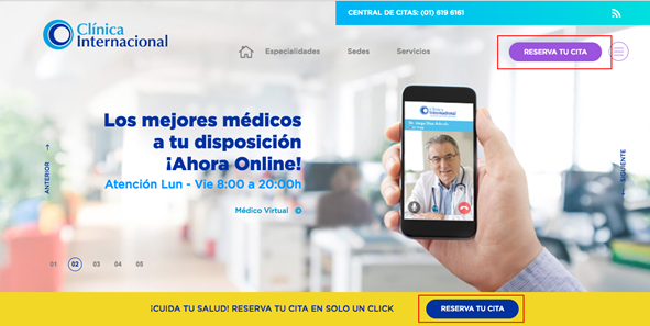 Clinica Internacional citas