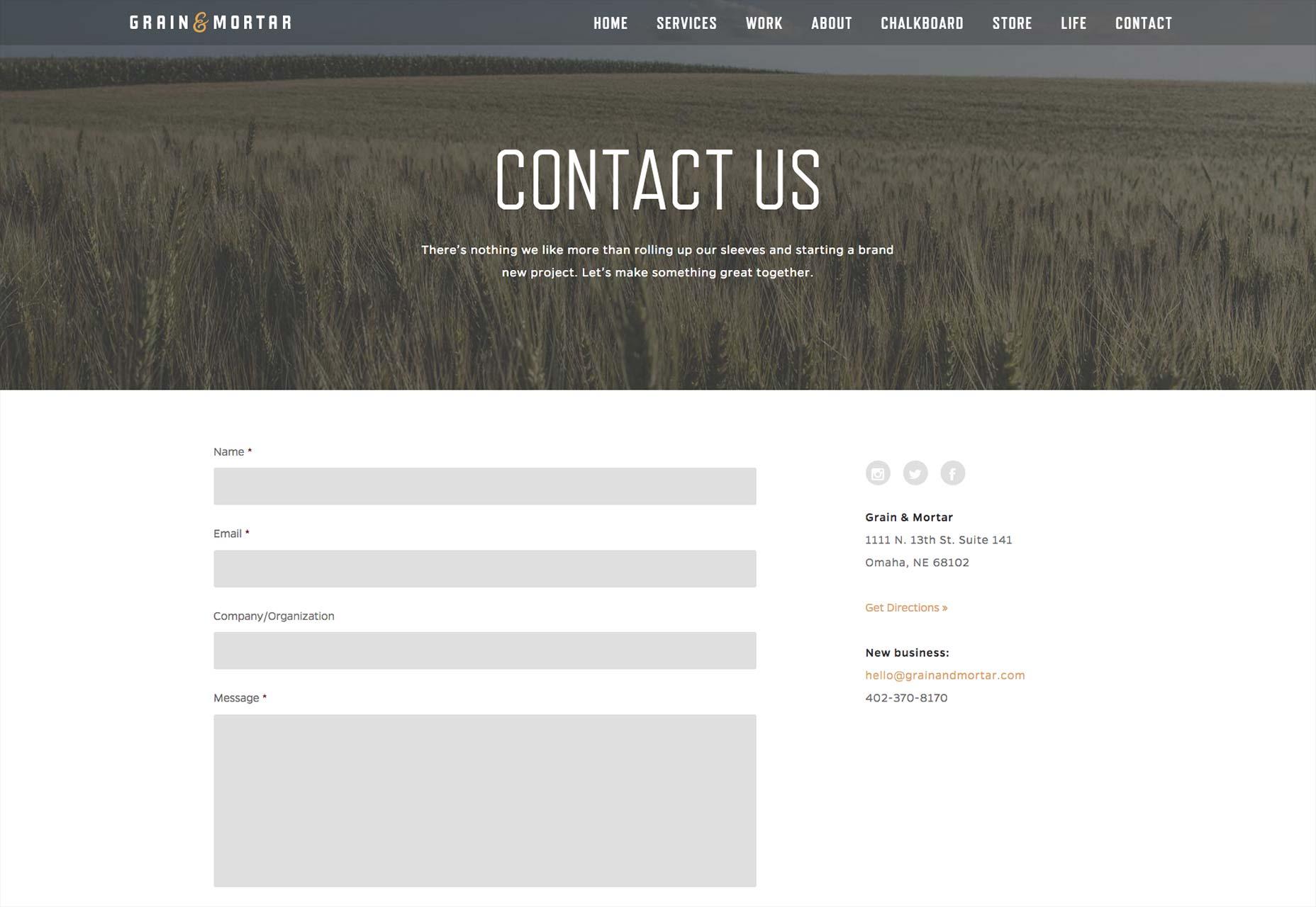 Resultado de imagen para seccion contacto pagina web