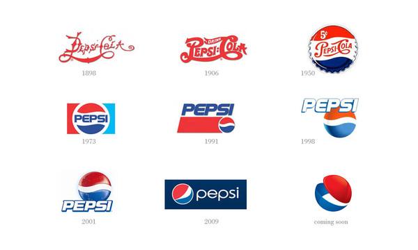 rediseño de logos Pepsi